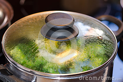 Broccoli boiling