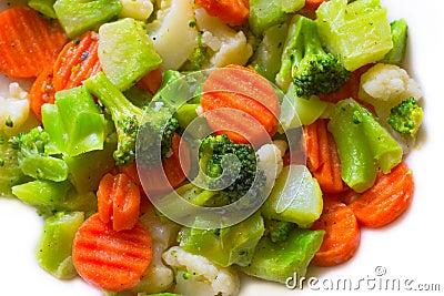 Broccoli, Cauliflower and Carrots
