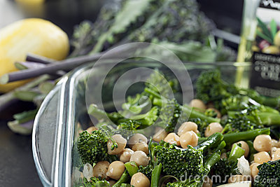 Broccoli and Chick Peas