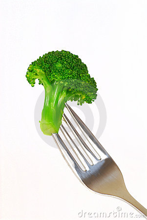 Broccoli on a fork