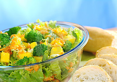 Broccoli-Mango-Carrot-Lettuce Salad