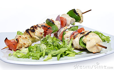 Brochettes grillées de poulet