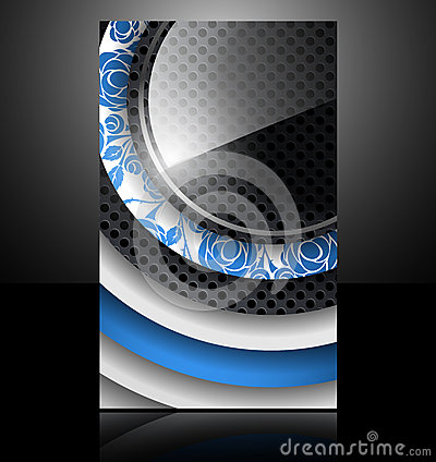 Brochure card banner metal flower glass abstract b