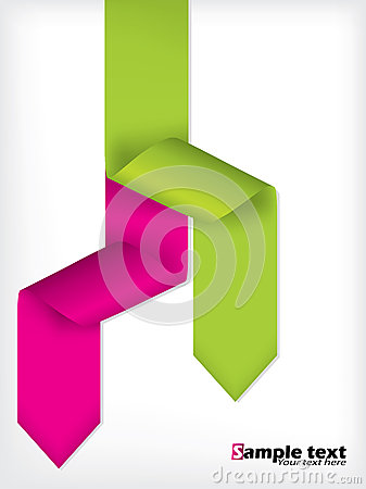 Brochure design with colored arrow ribbons
