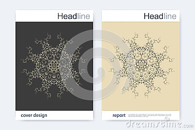 Brochure design template. Vector flyer layout. Pattern for magazine, leaflet, cover, poster design. Vector illustration. Vector Illustration
