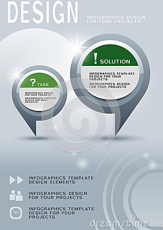 Free Brochure Design With Round Infographic Elements Royalty Free Stock Photography - 32083037