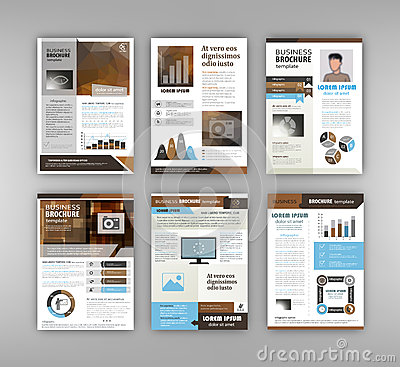 Brochure Template With Infographics Stock Vector - Image: 70570603