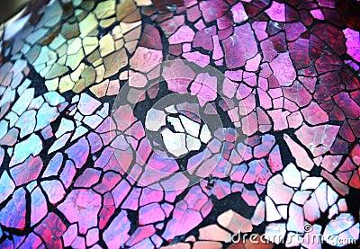 Brocken Cut Glass Texture Background