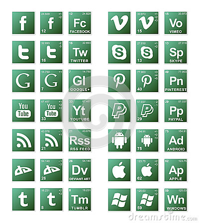 Broke Bad Social Media Icons Editorial Stock Image
