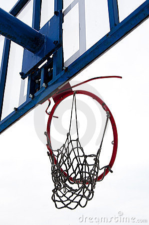 Broken basketball ring