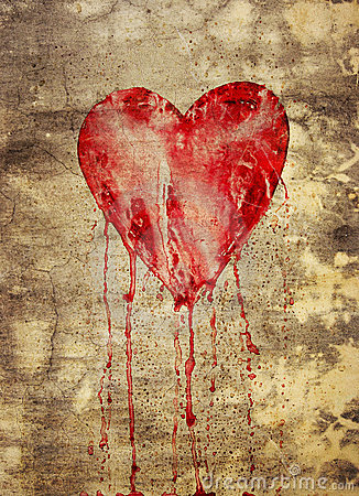 Broken and bleeding heart