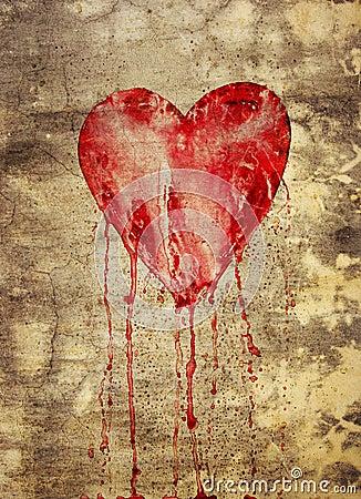 Broken and bleeding heart