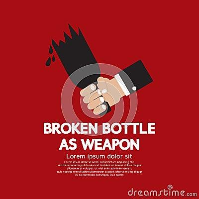 Broken Bottle As Weapon