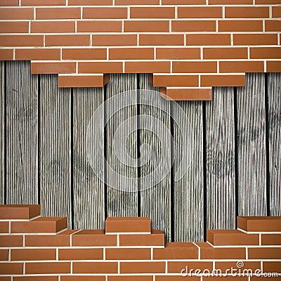 Free Broken Brickwall Background Royalty Free Stock Photo - 35603355