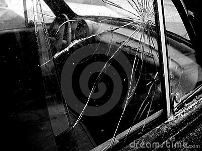 Broken Car Window