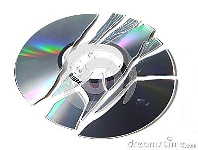 Broken CD-R.