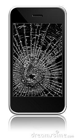 Free Broken Cellphone Stock Photography - 11040072