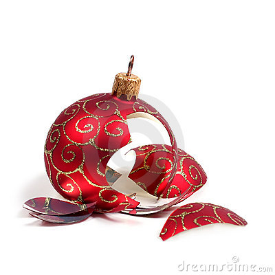 Free Broken Christmas Ball Stock Photos - 1568923