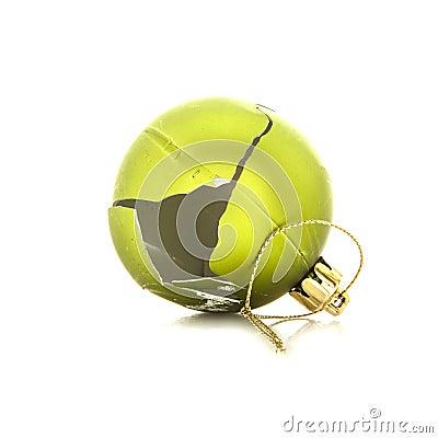 Free Broken Christmas Ball On White Royalty Free Stock Image - 36289246