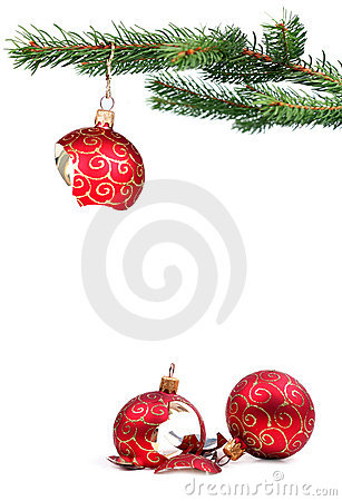 Free Broken Christmas Decoration Royalty Free Stock Photos - 11913228