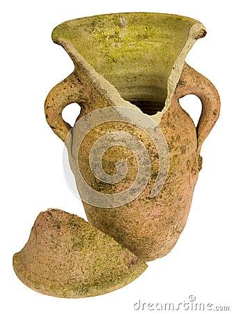 Broken clay jar