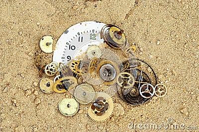 Broken clockwork mechanism