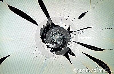 Broken cracked computer screen