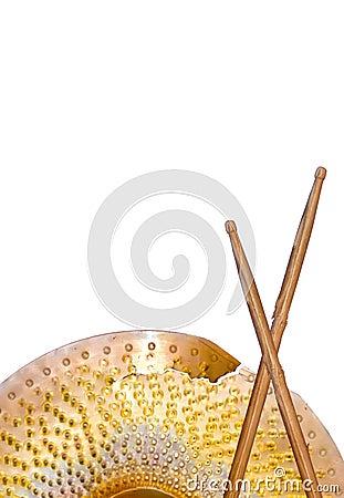 Broken Cymbals and Drumsticks
