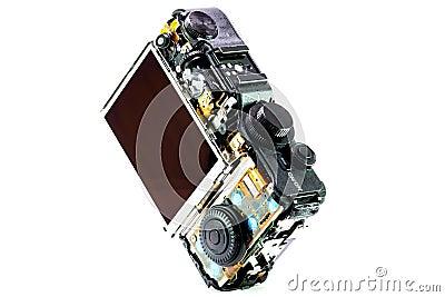 Broken digital camera Stock Photo