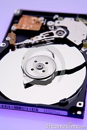 Broken disc on hard drive