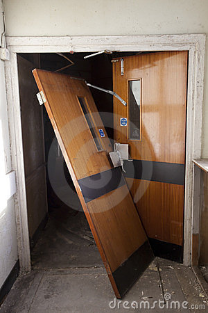 Broken Door Stock Photography Image 23668402
