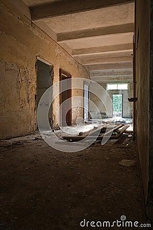 Broken doors and ruins