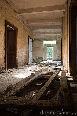 Broken doors and ruins