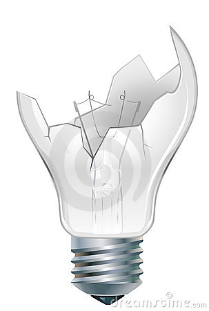 Broken Down Light Bulb Stock Image Image 21064711