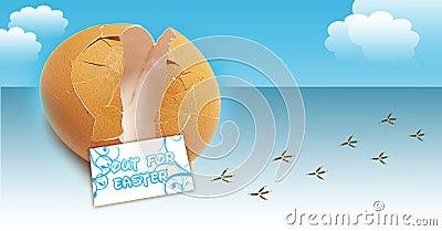 Broken Egg illustration concept