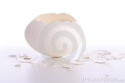 Broken egg isolated
