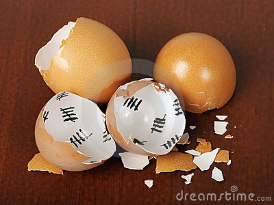 Broken egg shell