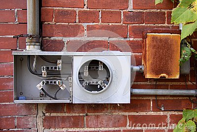 Broken electric meter