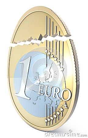 Broken euro eggshaped