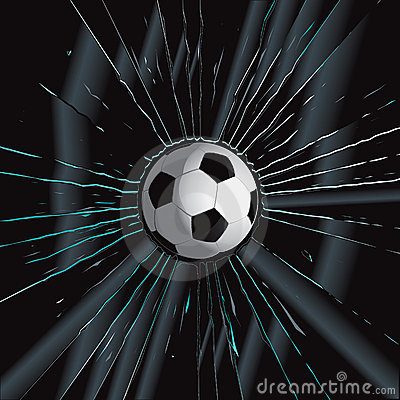 Broken Glass 2 Soccer Ball