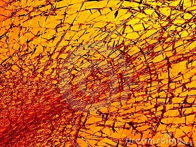 Broken glass in gold