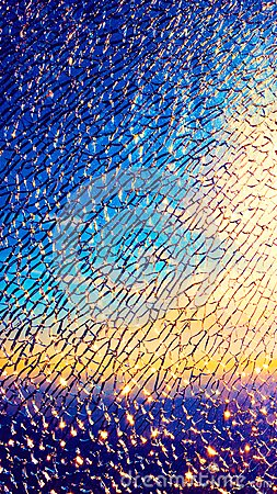Free Broken Glass Of Display For Mobile Screensaver Stock Photography - 104021512