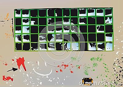 Broken glass (vector)