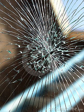 Free Broken Glass Windshield Royalty Free Stock Photo - 2198085