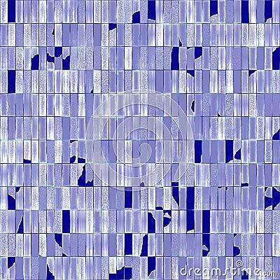 Broken glassy tiles