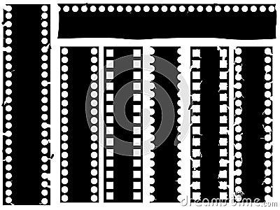 Broken grunge filmstrip