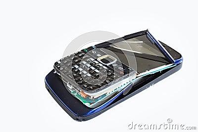 Broken handphone