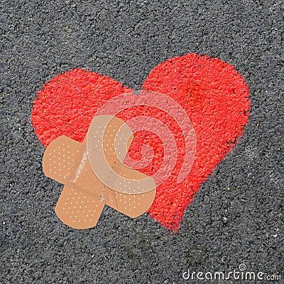 Free Broken Heart Royalty Free Stock Photography - 22784537
