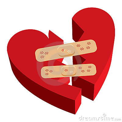 Broken heart band-aids