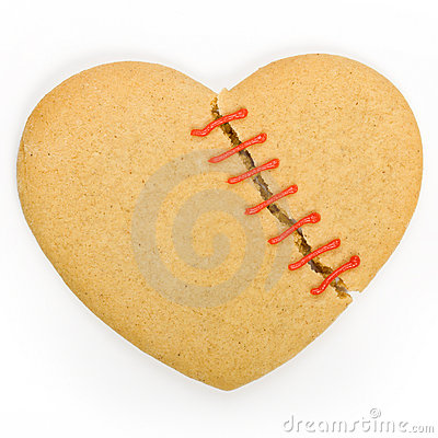Free Broken Heart Cookie Royalty Free Stock Photography - 7467977